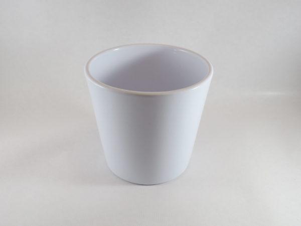 Vase ceram white D13